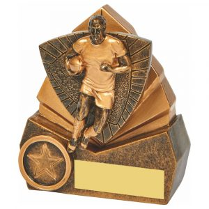 Rugby Trophy 10cms Tall