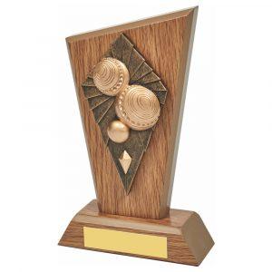 Wood Bowls Trophy 18cms