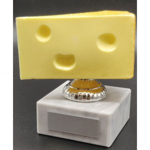 Cheesy Joke Trophy 10cms - Funny Trophies - Online Trophies