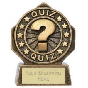 Mini Quiz Trophy 8cms