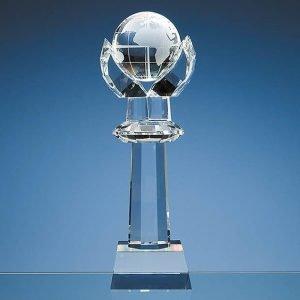 Crystal Tower Globe 31cms