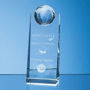 Crystal World Globe 18cms