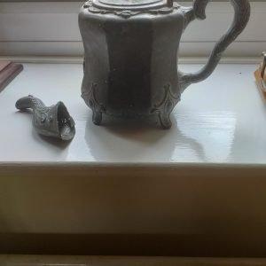 Repair Pewter Tea Pot